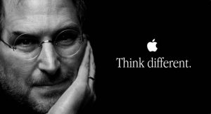Steve Jobs think diffrent
